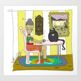 """""""Quiet Waiting"""" 2013 a. correia Art Print"""