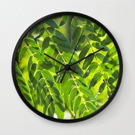 Sunny Leaves Wall Clock