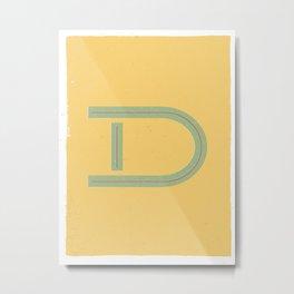 D 001 Metal Print
