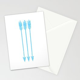 Arrows Blue Yellow White Stationery Cards