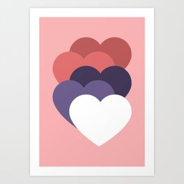 our hearts are not aligned Art Print