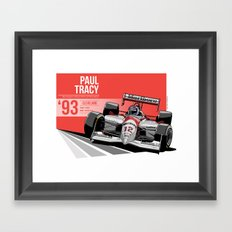 Paul Tracy - 1993 Cleveland Framed Art Print