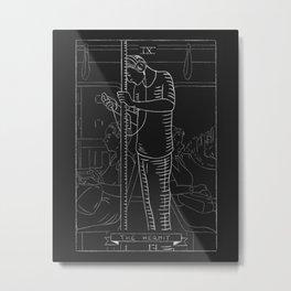 The Hermit Tarot Card Metal Print