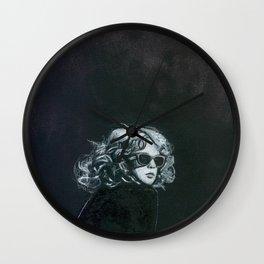 Little Sips - A Portrait of Drew Barrymore Wall Clock