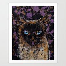 Balinese Cat Art Print