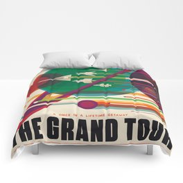 Retro Space Poster - The Grand Tour Comforters
