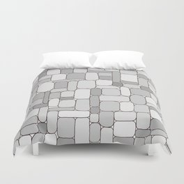 Stone Wall #4 - Grays Duvet Cover