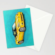 Yellow Corvette Stationery Cards