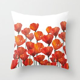 Poppies! Throw Pillow