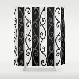 Burtonesque Stripes and Swirls.. Shower Curtain