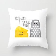 Cheesy Couple Throw Pillow