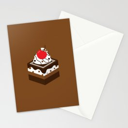 Brown Chocolate Cake Stationery Cards