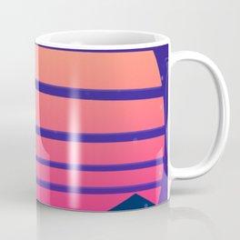 Synthwave Space #13: Twilight horizon (pixelart) Coffee Mug