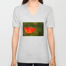 La tulipe orange Unisex V-Neck