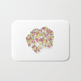Iced Flower Hearts Bath Mat