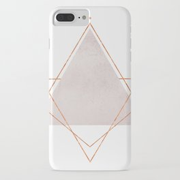 BLUSH COPPER ROSE GOLD GEOMETRIC SYNDROME iPhone Case