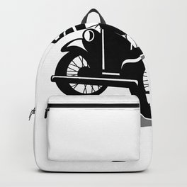 Vintage Coupe With Flowing Scarf Retro Backpack