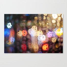 Rainy Night in Taiwan Canvas Print
