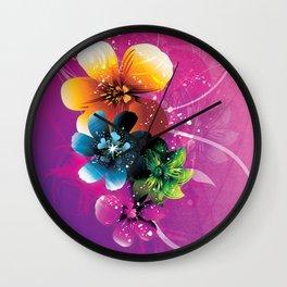 Floral Mystique Wall Clock