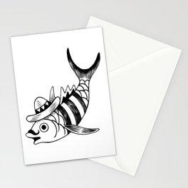 Pescado pistolas Stationery Cards