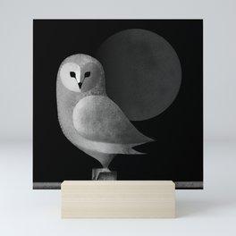 Barn Owl Full Moon Mini Art Print