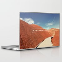 never stop exploring Laptop & iPad Skins featuring Never Stop Exploring by Hillary Murphy