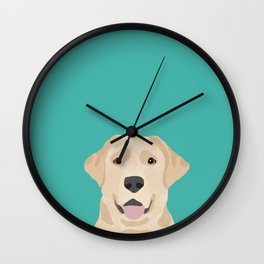 Labrador Retriever golden retriever yellow lab dog breed gifts Wall Clock