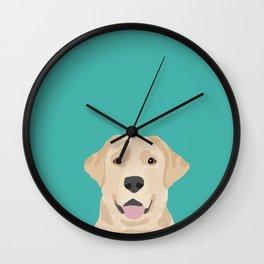 Labrador Retriever golden retriever yellow lab dog breed gifts Wall Clock