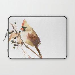 Cardinal Bird and Fall Berries Laptop Sleeve