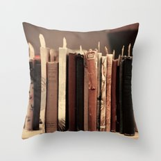 Old Books (brown) Throw Pillow