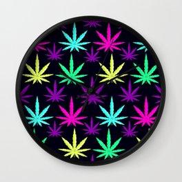 Colorful Marijuna Weed Wall Clock