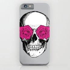 Skull and Roses   Grey and Pink iPhone 6s Slim Case