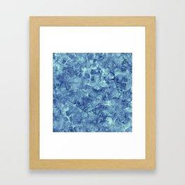 Blue onyx marble Framed Art Print