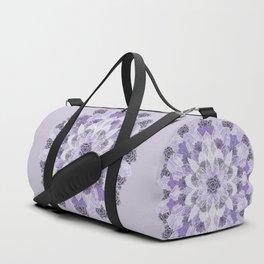 Crystals Succulents Mandala LILAC Duffle Bag