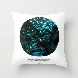 005: Glow Worm Cave, New Zealand Throw Pillow