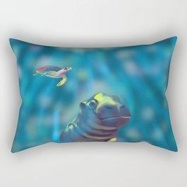 Playful waters Rectangular Pillow
