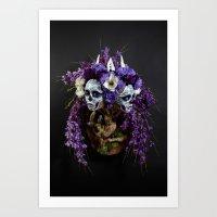Willow Blossom Muertita Art Print