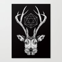 stag Canvas Prints featuring Stag by Andy Christofi