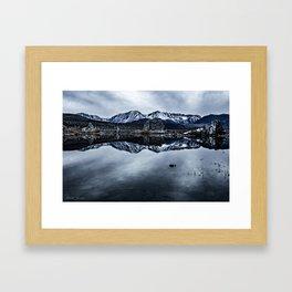 MONO LAKE WINTER Framed Art Print