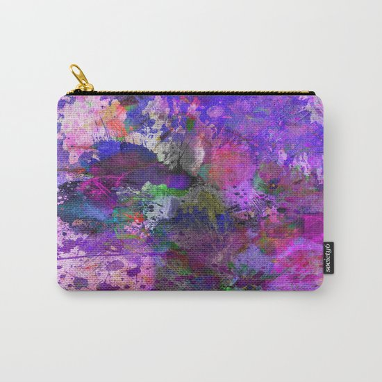 Lilac Chaos - Abstract Carry-All Pouch