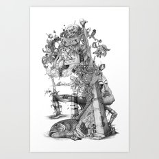 compositions Naturally (Black&White) Art Print