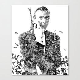 James Bond Sean Connery Text Portrait Canvas Print