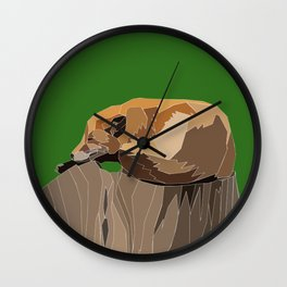 Precarious Snooze Low Poly Wall Clock