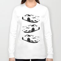 porsche Long Sleeve T-shirts featuring Arctic Porsche by deadfish