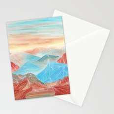 Lines in the mountains XX Stationery Cards