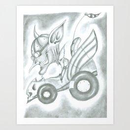 Goblin Driving Art Print