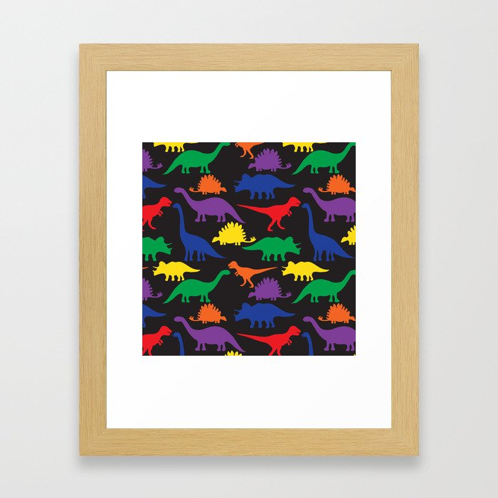 Dinosaurs - Black Framed Art Print