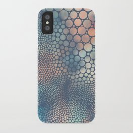 Dream Circles Charcoal iPhone Case