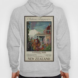 Château Tongariro Ntal Park, New Zealand - Vintage Poster Hoody