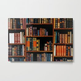 The Bookshelf (Color) Metal Print